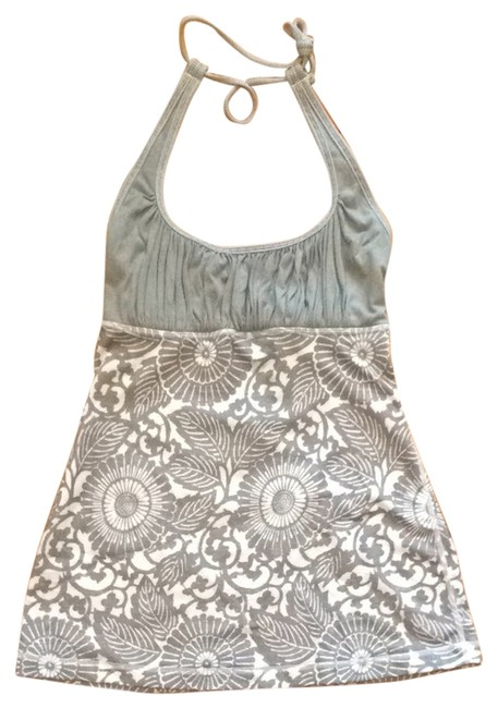 Item - Grey and White Halter Top Size 2 (XS)