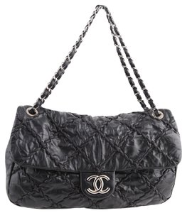 Chanel Face Ultra Stitch Flap Tote in Black