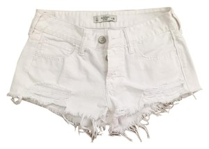 Abercrombie & Fitch Summer Paige Denim Cut Off Shorts White