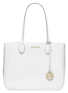 Michael Kors Mae Large Tote in White / Blue