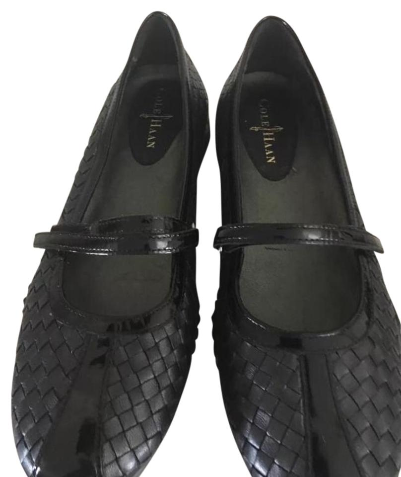 Cole Haan Black Black Black Mary Jane- Woven Leather Flats d13e45