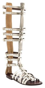 Steve Madden Metallic Gladiator Leather Gold Sandals