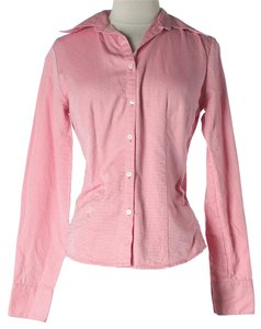Ann Taylor LOFT Button Ups Button Down Button Down Shirt Pink