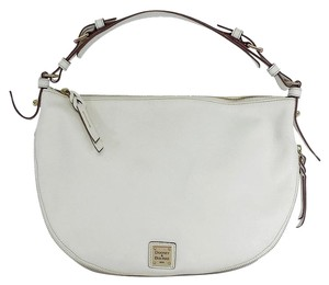Dooney & Bourke White Grainy Leather Hobo Bag