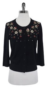 Kate Spade Black Embellished Cardigan