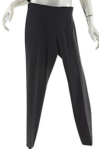 Marni Narrow Gaberdine Wool Blend Straight Pants Black