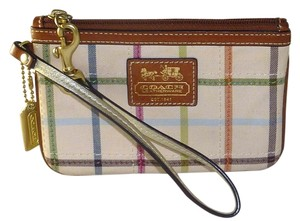 Coach Bleecker Check Key Fob Fob Wristlet in Multi-Color
