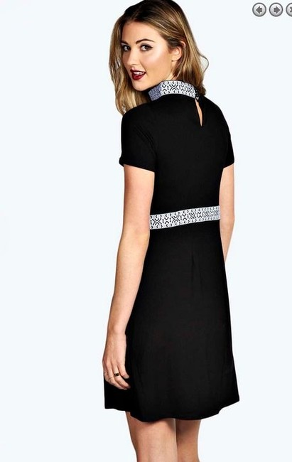 Other short dress Black Embroidered A-line on Tradesy