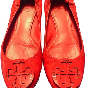 Tory Burch Red Patent Leather Flats
