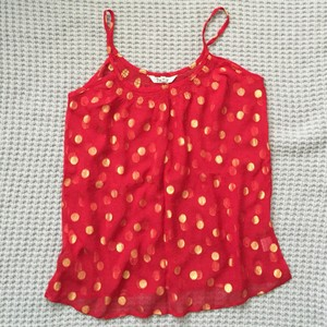 Tucker Top Red/Gold