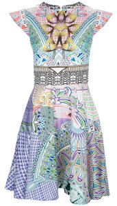 MARY KATRANTZOU Babelona Fit And Flare Jessica Alba Dress