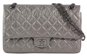 Chanel Ch.k0526.08 Silver Quilted Shoulder Bag