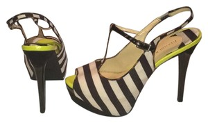 Gianni Bini Black, white, lime green Platforms