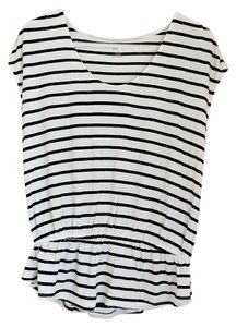 a.n.a. a new approach T Shirt White and black striped