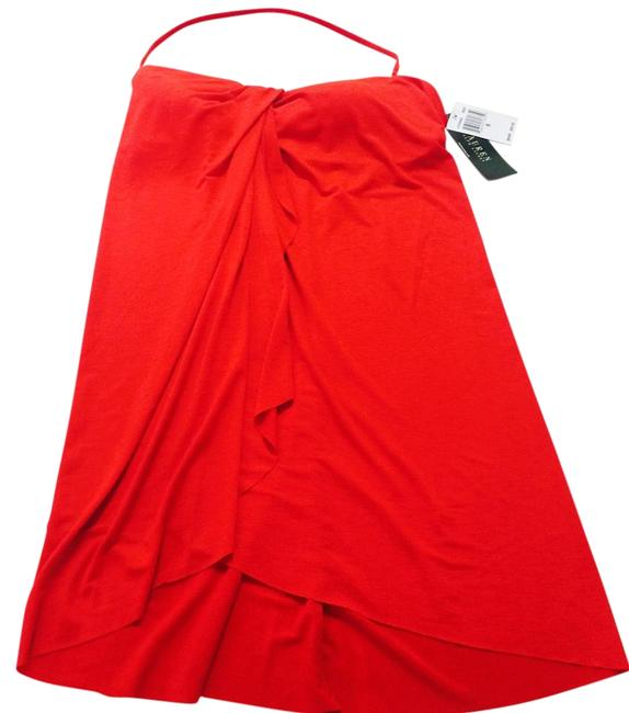 Item - Red Bathing Suit with Detachable Strap Cover-up/Sarong Size 6 (S)