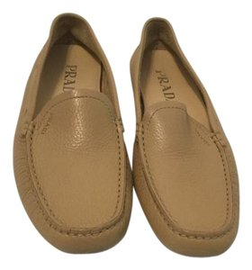 Prada All Padded Insoles Tan soft leather E35 Flats