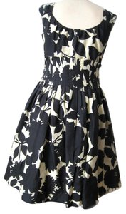 Moschino Silk Floral Full Skirt Fitted Dress