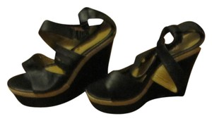 Lady Yarens Leather Black/Tan Wedges