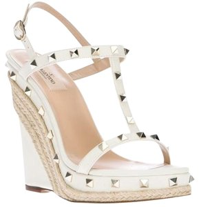 Valentino Cream Wedges