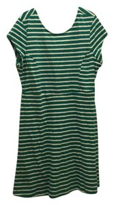 Old Navy short dress Green and white strip on Tradesy