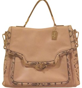 Coach Blush Colored Satchel in Blush, Python