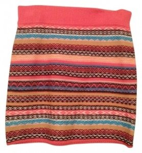 Mossimo Supply Co. Sweater Mini Skirt Multicolor with pink band