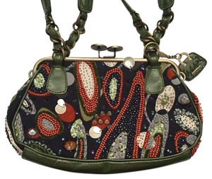 Mary Frances Satchel in Navy, Olive, Coral