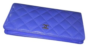 Chanel Chanel Caviar wallet RARE BLUE WITH RHW