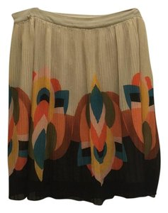 Forever 21 Skirt Cream and colorful pattern