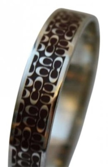 Preload https://item2.tradesy.com/images/coach-silver-and-brown-bangle-bracelet-170616-0-0.jpg?width=440&height=440