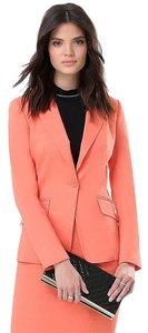 bebe Jacket Fitted Career Suit Orange Blazer
