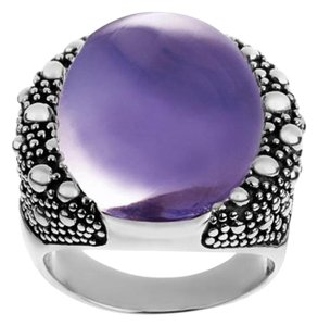 Michael Dawkins Michael Dawkins Sterling and Purple Mother-of-Pearl Starry Night Doublet Ring - Size 7