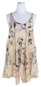 Free People short dress Boho Slip Flowy Floral Lace on Tradesy