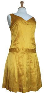 Alvin short dress Marigold Silk Satin Sheath on Tradesy