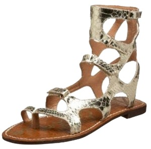 Sam Edelman Gladiator Sandals Gold Flats