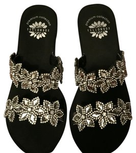 Yellow Box Rhinestone Sandals