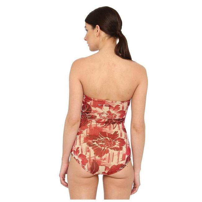 jean paul gaultier red flower tulle swimsuit one piece bathing suit size 4 s tradesy. Black Bedroom Furniture Sets. Home Design Ideas