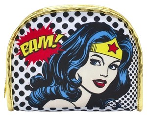 SOHO Beauty New WONDER WOMAN Make-Up Bag DC Comics Round Top Fabric Cosmetic Accessory