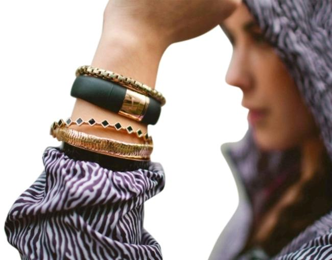 Item - Black & Rose Gold Limited Edition Fuelband - Track Your 2015 Fitness Resolutions Bracelet