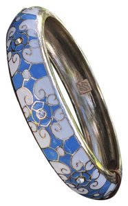 Tommy Bahama Tommy Bahama blue and white enamel bangle bracelet golden trim