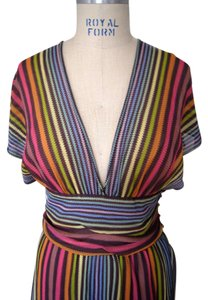 Missoni short dress Multi Colored Knit Striped on Tradesy