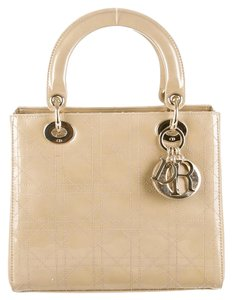 Dior Lady Tote in Metallic gold-tone cannage