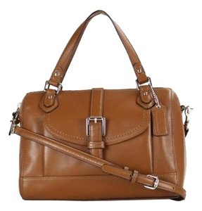 Coach Small Short And Longstraps Satchel in Saddle