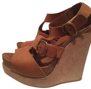 Pedro Garcia Wedge Summer Leather Tan Wedges