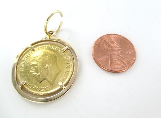 Other 22KT SOLID YELLOW GOLD COIN GEORGIVS V DG BRITT OMN REX FED IN IMP 1912 PENDANT