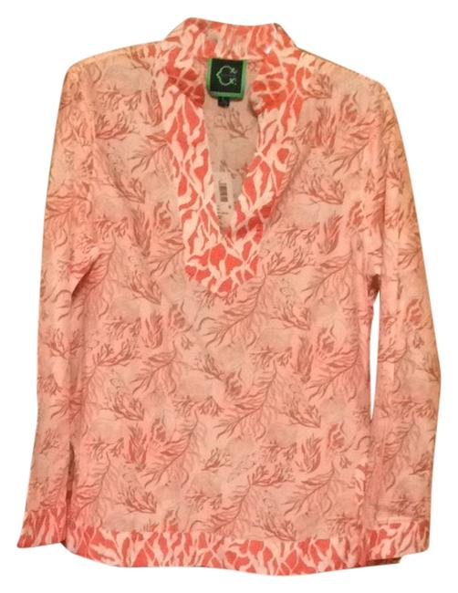 Preload https://item5.tradesy.com/images/wonder-tunic-coral-and-white-1706349-0-0.jpg?width=400&height=650