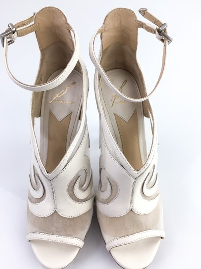 B Brian Atwood Toe Off White Boots