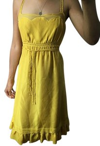 Viola short dress Yellow/Gold on Tradesy