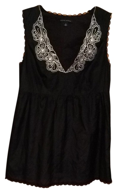 Preload https://item5.tradesy.com/images/banana-republic-tunic-navy-and-white-1706379-0-0.jpg?width=400&height=650