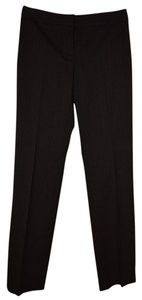 Tahari Work Elie Straight Pants Black Pin Stripe